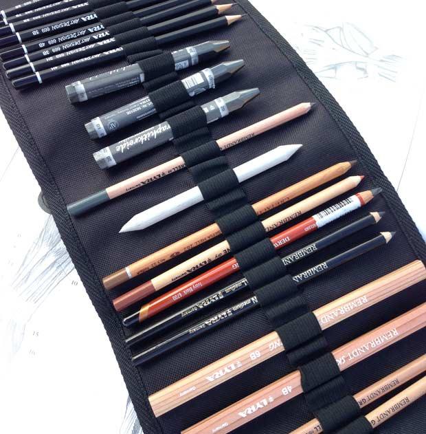 Astuccio chiaroscuro arrotolato prezzi, comprare Astuccio matite arrotolato